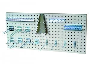 Accessoires porte-outils pour panneaux perforés