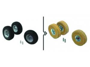 Roues anti-trace (3 roues)