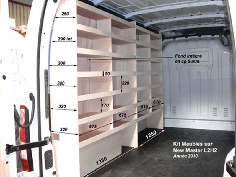 "Exceptionnel Renault ""Master"" (meubles bois) : Kit meubles bois RENAULT MASTER L2H2 BT27"